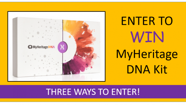 Enter to Win Free MyHeritage DNA Kit