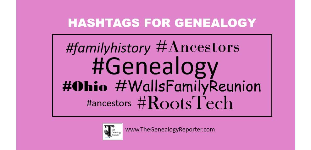 hashtags for genealogy