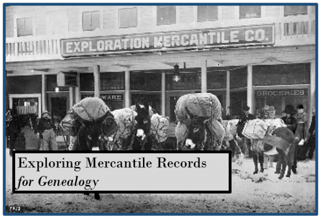 mercantile records for genealogy