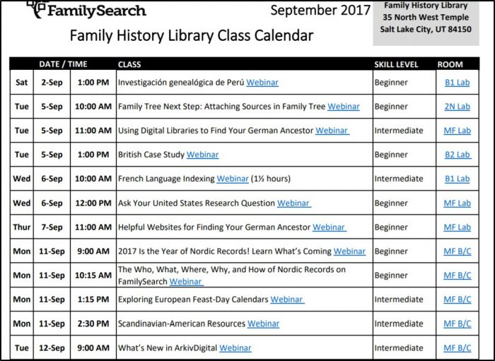 webinars for genealogy education