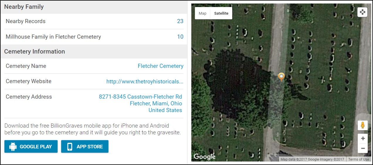 GPS and virtual cemeteries for genealogy