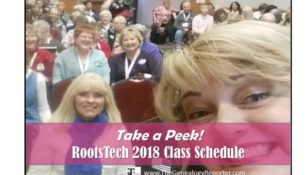 RootsTech 2018 Class Schedule is Here!