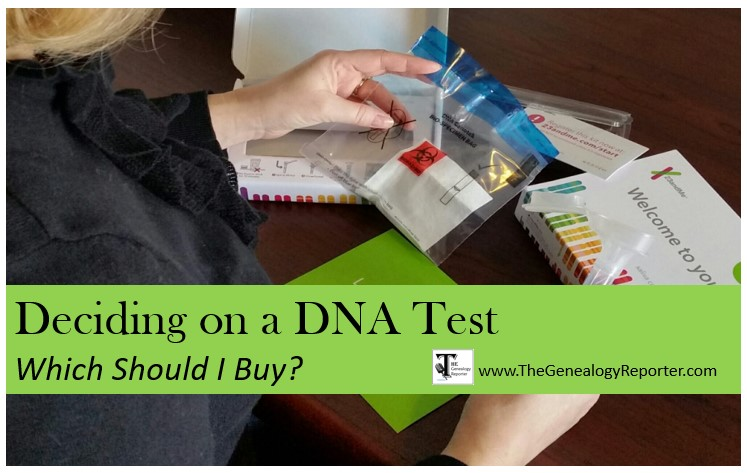 buying DNA tests for genealogy