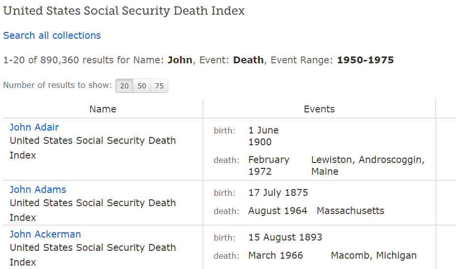 use SSDI for substitute birth record for genealogy