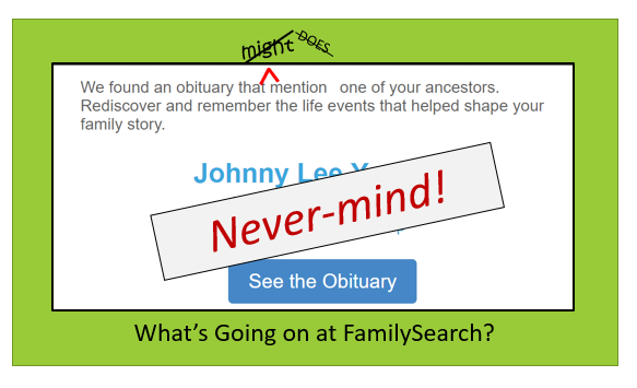 obituary email from familysearch