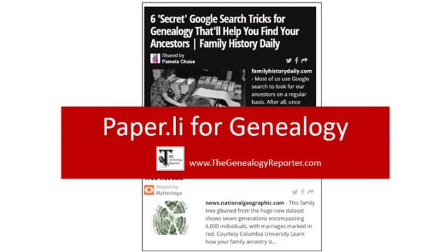 Paper.li for Genealogy