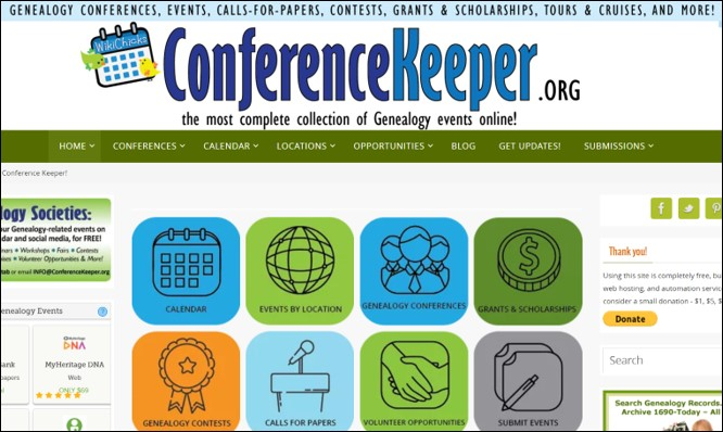 genealogy conference speaker proposal at Conference Keeper