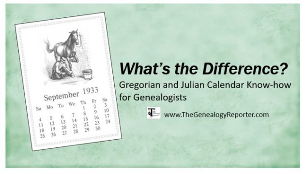 Understanding the Gregorian Calendar for Genealogy