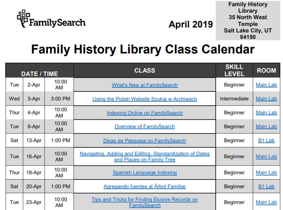 FHL free genealogy webinars