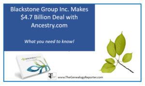 Blackstone buys Ancestry.com