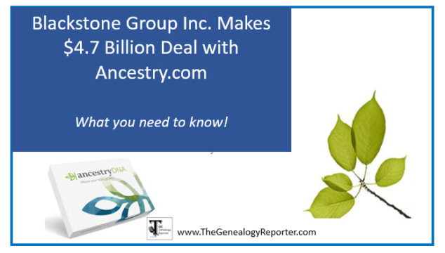 Big News! Blackstone Buys Big Stake in Ancestry.com