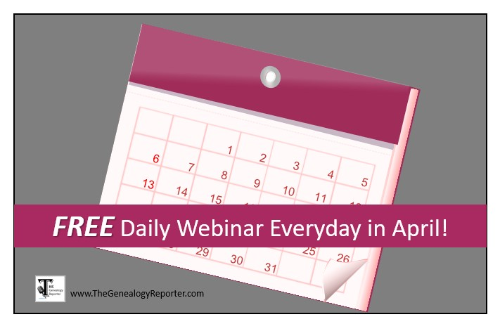 daily free genealogy webinars