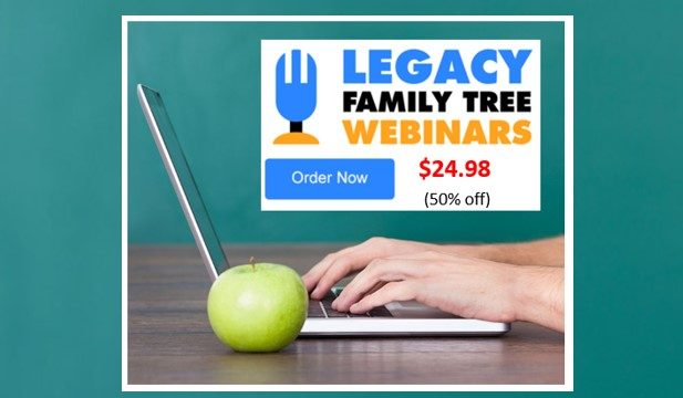 50% Off Family Tree Webinar Yearly Subscription: NOW!