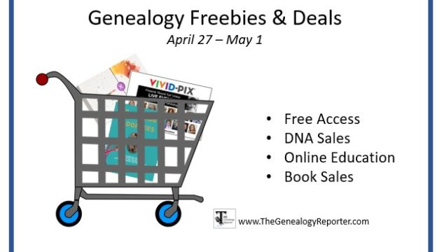 Genealogy Freebies and Deals Happening This Week: April 27, 2020