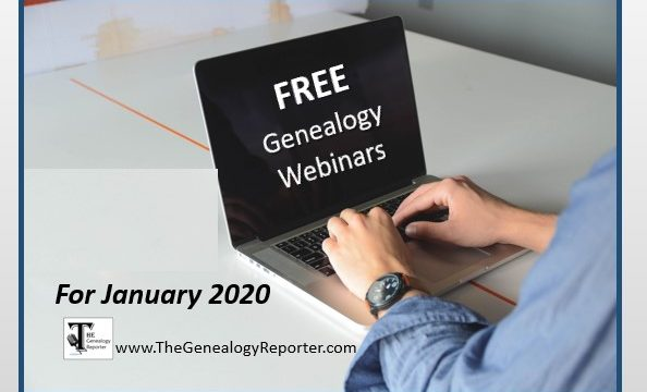 Free Genealogy Webinars for January 2020