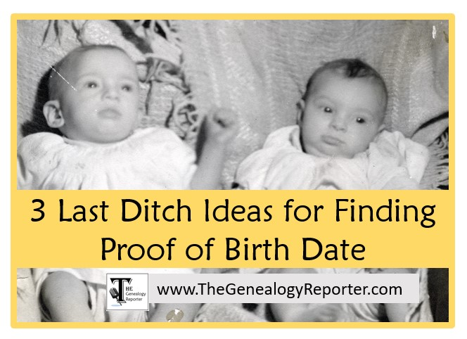 finding birth records