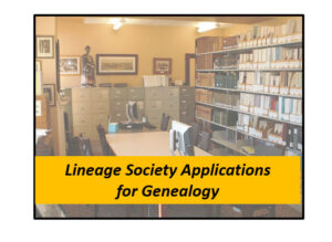 lineage society applications for genealogy