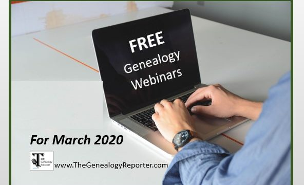 Free Genealogy Webinars for March 2020