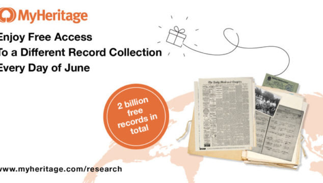 MyHeritage Offers FREE Access to over 2 Billion Record Collections Everyday in June