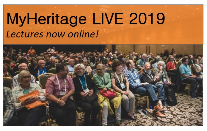 MyHeritage LIVE 2019 classes available