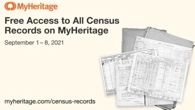 FREE World Census Records at MyHeritage