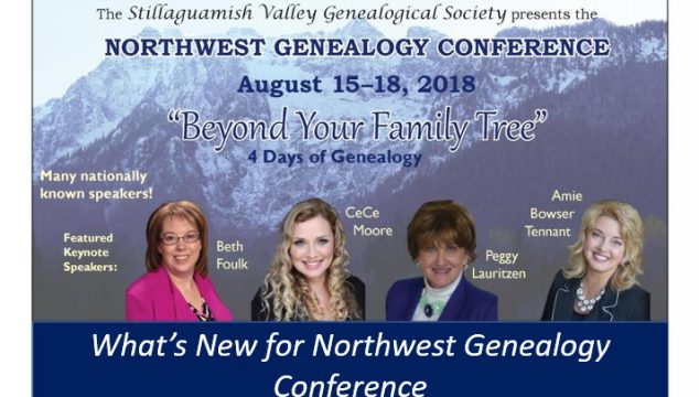 2018 Northwest Genealogy Conference Offers Advanced Workshops & More