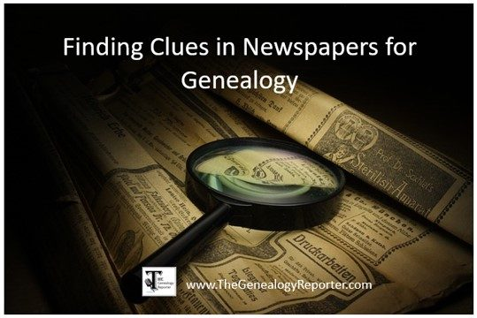 Newspapers for Genealogy Research