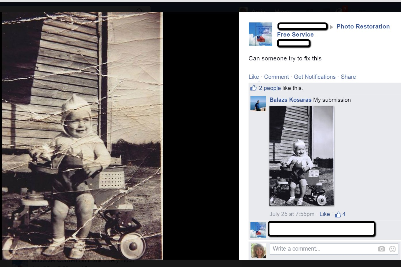 restoring old photos easily