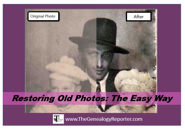 before and after of restoring old photos