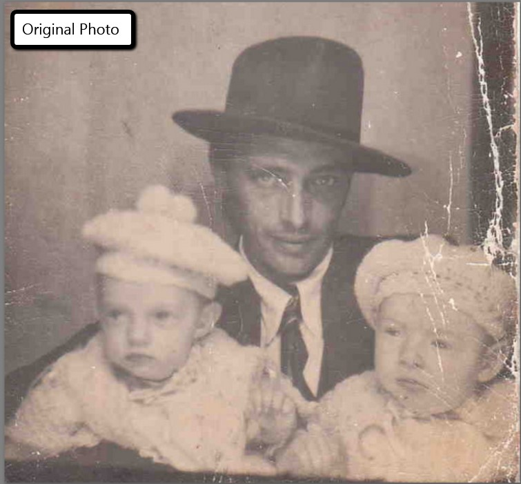 restoring old photos with cracks