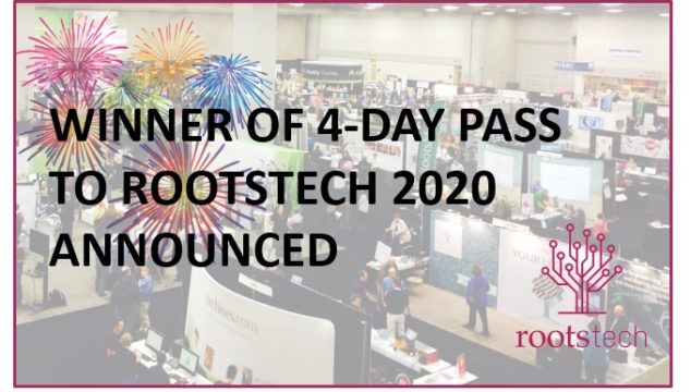 RootsTech Pass Winner Announced