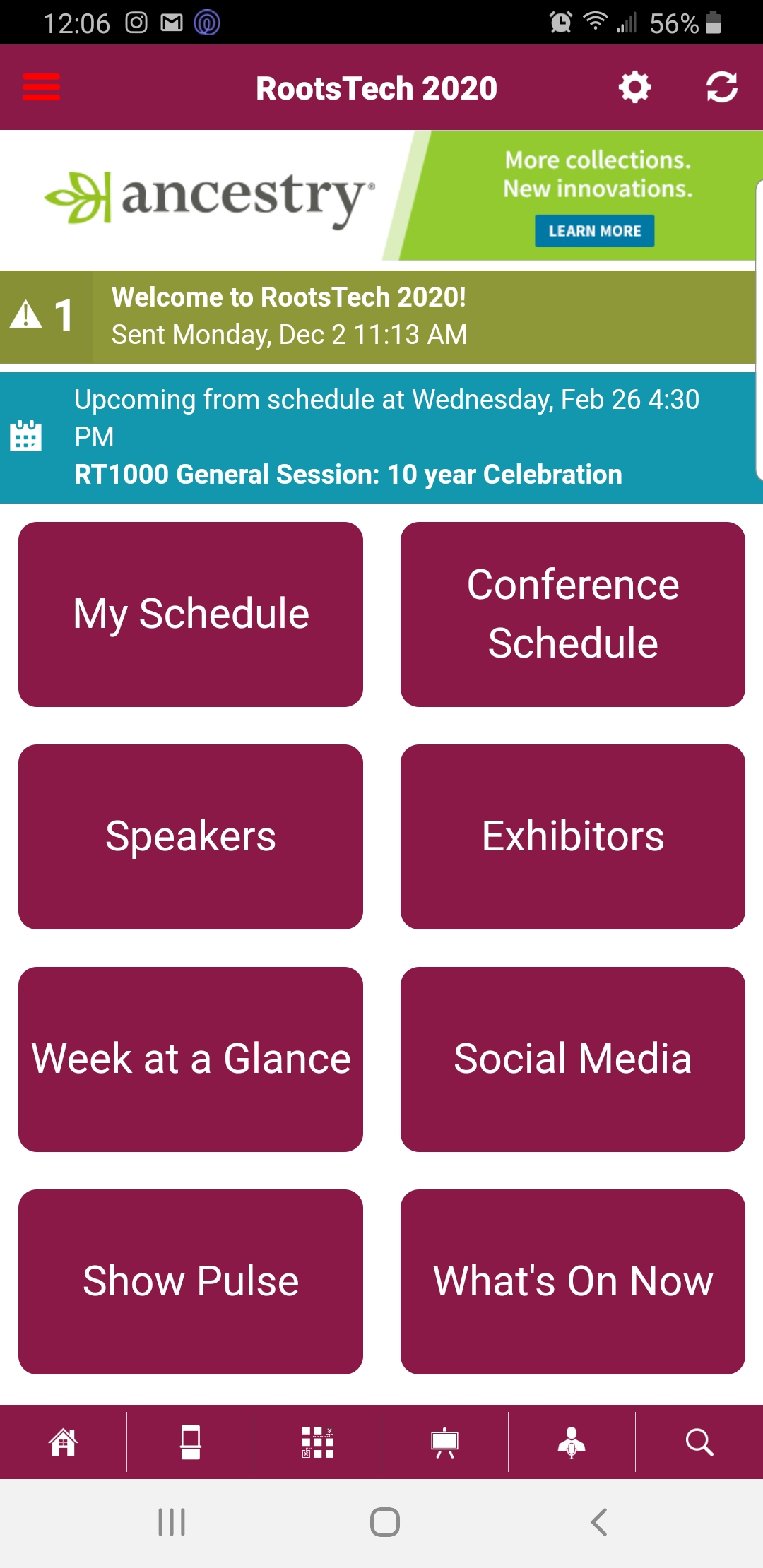 RootsTech 2020 app now available