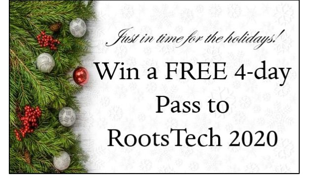 Win a FREE 4-day Pass to RootsTech 2020 in Salt Lake City, Utah