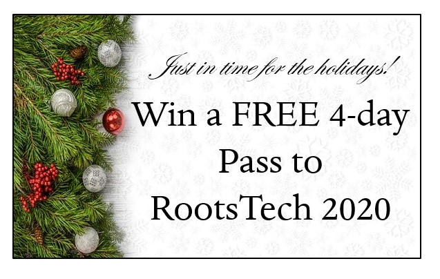 win a free pass to RootsTech