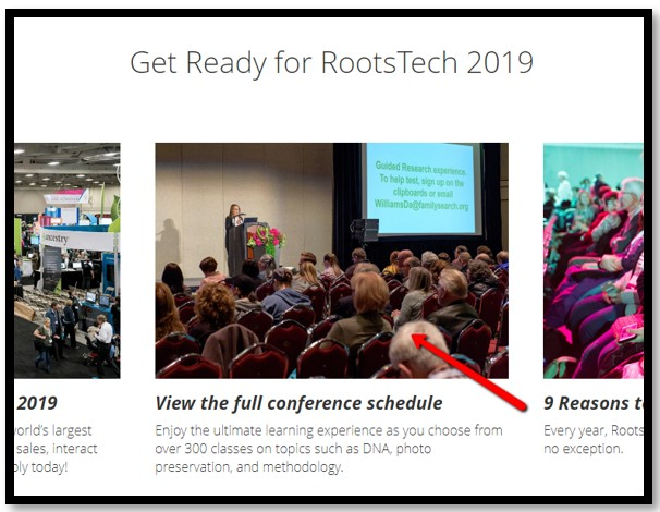 RootsTech 2019 report on schedule