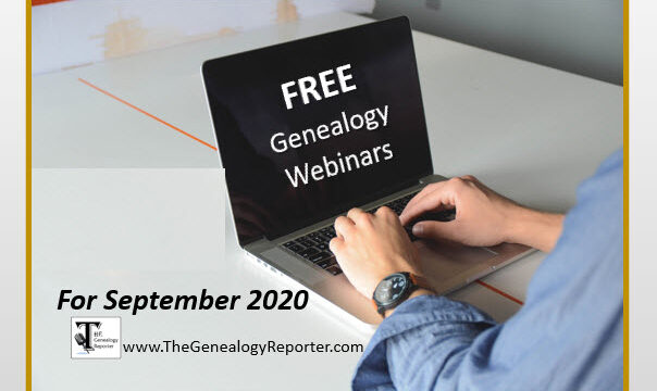 Free Genealogy Webinars for September 2020