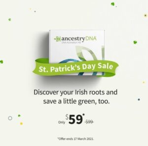 Ancestry DNA test sale for St. Patrick's Day