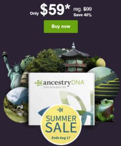 Ancestry DNA Summer Sale