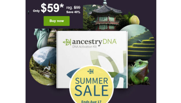 DNA Summer Sale at Ancestry