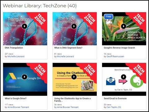 TechZone videos from FamilyTreeWebinars