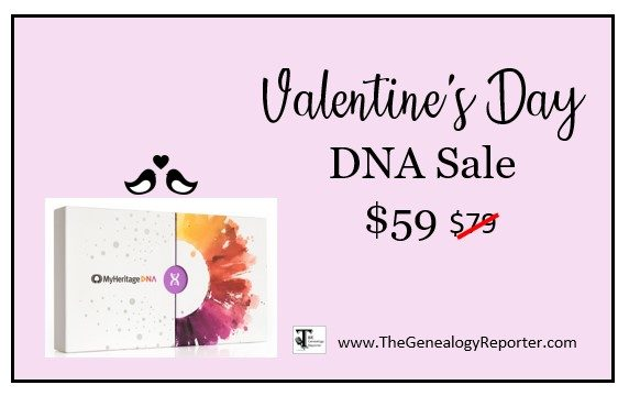 Celebrate Valentine's Day with $59 DNA Test from MyHeritage and more!