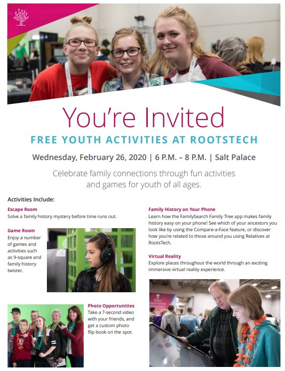 youth activities at RootsTech 2020