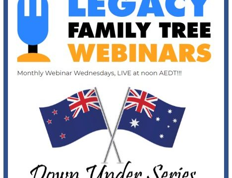Webinars for Australian and New Zealand Genealogy